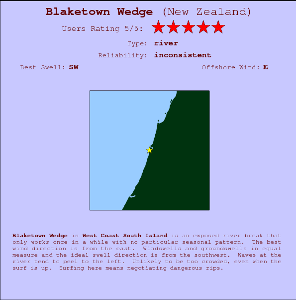 Blaketown Wedge Locatiekaart en surfstrandinformatie