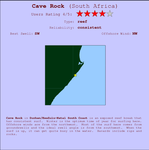 Cave Rock Locatiekaart en surfstrandinformatie